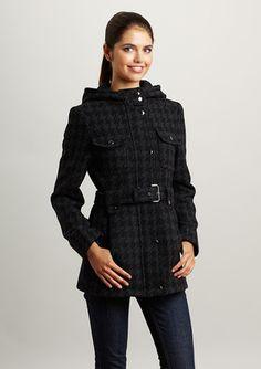 ESPRIT Wool Houndstooth Coat
