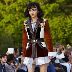 First look. Rila Fukushima in Louis Vuitton Cruise 2018 by Nicolas Ghesquière at the Miho Museum near Kyoto, Japan