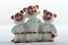 Faberge Cats trinket box trinket box by Keren Kopal Swarovski Crystal