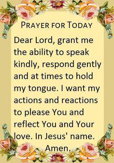 Prayer For Today Prayer Times, Prayer Scriptures, Bible Prayers, Catholic Prayers, Faith Prayer, God Prayer, Power Of Prayer, Prayer Quotes, Bible Quotes