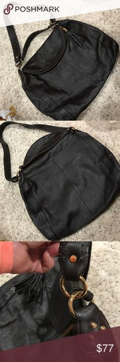 "Onna Ehrlich Hobo Shoulder Bag NWT NWT pebbled leather bag. Zip close at top folds over. Two straps with laced edge. The longer one with a 18"" drop can be removed. Shorter one is a 5""drop. 17"" w 14"" h folded over. 5""d onna ehrlich Bags"
