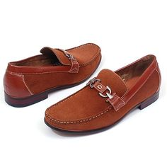 #Mens #Dress #Shoes Buckle Boat Loafers Slip on Moccasins Leather Lined LightweightThese Run Big Please order 1 Full size Smaller then what you normally wear.  #summer #shoes #style All Widths are Medium.  By Ferro Aldo  Sizes: 7 - 13  MSRP: $95.00  Product Features:  Slip on Loafers Both Buckle Loafer & Boat Shoe Styling Leather Lined Rubber Outsole Looks Great Look As Dress or Casual Under Jeans