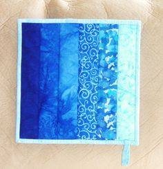 Quilted Potholder Pot Holder  in Colorwash in by nhquiltarts, $14.00