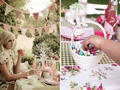 Darling Vintage Easter Brunch {+ Printables} // Hostess with the Mostess®