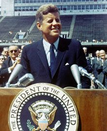 "John F. Kennedy made his famous ""The Decision to Go to the Moon"" speech on May 25, 1961 in Houston, TX"