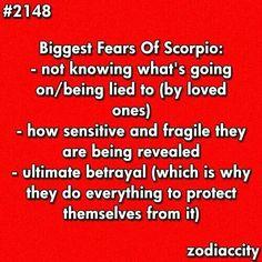 Biggest Fears Of Scorpio........
