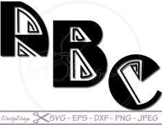 SVG Alphabet Line, SVG Fonts Line, cutting files, Alphabet cutouts DXF, Letters cut files, silhouette, scrapbooking, svg files for cricut
