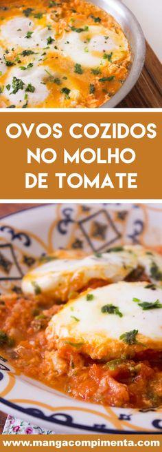 Receita de Ovos Cozidos em Molho de Tomate |Shakshuka - prepare para o almoço ou lanche da da semana! #receitas