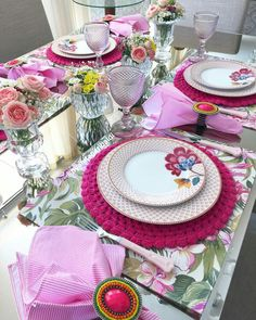 ~ Living a Beautiful Life ~ floral y colorida Crochet Placemats, Christmas Table Settings, Tuscan Style, Fall Table, Table Arrangements, Rustic Table, Deco Table, Home And Deco, Decoration Table