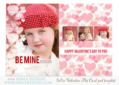 5x7in Valentine's Day Card Template for by KimlaDesigns on Etsy, #photography #photoshop #valentinesday