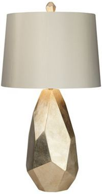 Avizza Faceted Champagne Modern Table Lamp - #EU6H388 - Euro Style Lighting