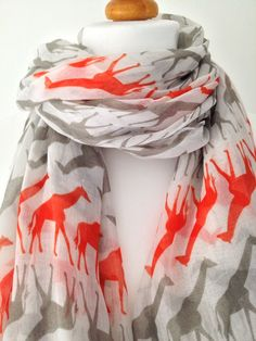 Hey, I found this really awesome Etsy listing at https://www.etsy.com/listing/169583517/giraffe-animal-print-scarf-ladies-white