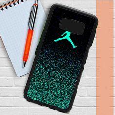 Nike Air Jordan Jump Mint Glitter Samsung Galaxy S8 Plus Case Dewantary