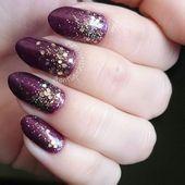 Dark purple nails with ombrè glitter. Pinterest: Um toque de Framboesa Blog Hairdos For Short Hair, Short Hair Styles, Dark Purple Nails, Face Care, Skin Care, Scream Meme, Dark Blue Skinny Jeans, Shadow Puppets, Winter Fashion Outfits