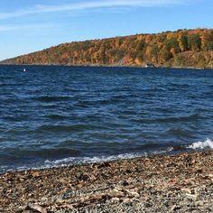 Cayuga lake at salt point