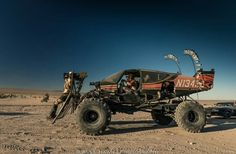The WARPLANE.  Best in Show Wasteland Weekend 2016.      Cooper Purzycki and his father went full Wasteland when they mounted the rockwell commander fuselage to a 86 F250 4x4 truck frame.  Under the hood is a 460 engine bored out and stroked to 545 CI. The plane is fully caged and ready for war any kind of obstacles in its way.