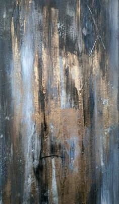 Items similar to Original Contemporary Modern Abstract Painting 12 x 24 Gold Gray Black on Etsy Abstract Oil, Abstract Wall Art, Abstract Portrait, Black Abstract, Art Grunge, Mid Century Wall Art, Gold Leaf Art, Contemporary Abstract Art, Contemporary Artists