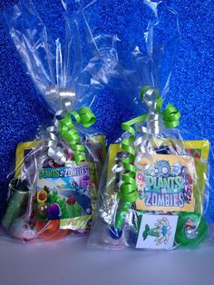 8 Filled Plants Vs Zombies Party Favor Gift Bag Birthday Toys Loot Goody Treat