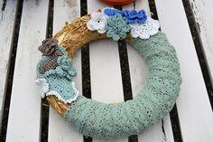 Türkränze - Blumenkranz Türkranz - Pistazie - ein Designerstück von wollkaethe bei DaWanda