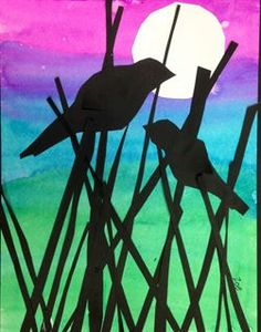 Artsonia Art Gallery - Bird Silhouette