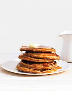 Gingerbread Pancakes | Recipe | Gingerbread Pancakes, Apple Butter and ...