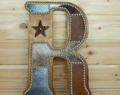 Cowhide Wall Letter H Made to Order Western Home by LizzyandMe