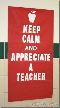 Teacher Appreciation Week Bulletin Board - mudpiestudio@blogspot.com