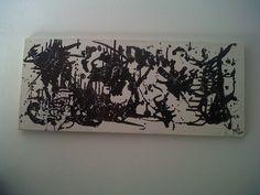 """""""Abstracción monocromática"""" - Bastidor de120x50 - Acrilicos - Año 2003"""