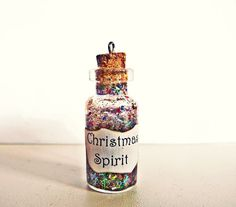 Tutorial: Christmas Spirit Miniature Bottle Charm