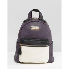 Claudia Canova Mini Backpack (€53) ❤ liked on Polyvore featuring bags, backpacks, purple, miniature backpack, mini rucksack, top handle bags, mini bags and purple backpack