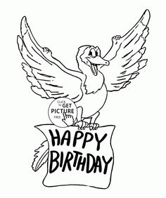 Coloring Page Template Printing Coloring Pages To Print, Coloring Pages For Kids, Happy Birthday Coloring Pages, Funny Dragon, Dragon Coloring Page, Happy Birthday Funny, Make Pictures, Holidays With Kids, Free Printables