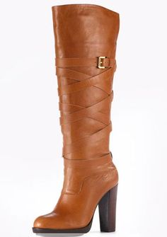 Now this is some sassy boots!  I love it!!!!  Pair w/ leggings and jacket + scarf and it would be adorable!!!