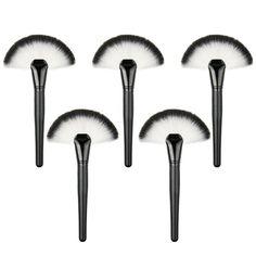 Professional Single Makeup Brush Blush / Powder Sector Makeup Brush Soft Fan Brush Foundation Brushes Make Up Tool