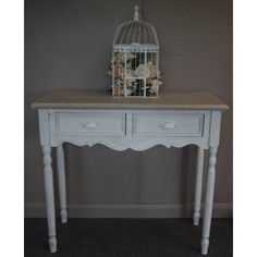 French Country Furniture - Console Table - Two Drawer