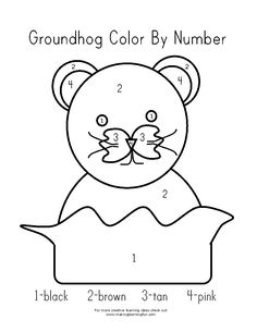 Groundhog pattern. Use the printable outline for crafts