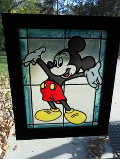Stained Glass Mickey Mouse Suncatcher