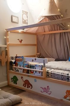 Worth knowing about the cot KURA by Ikea incl. Hack Our cot Kura from Ikea with Hack to the Rausfallschutz # - Kura Bed Hack, Ikea Kura Hack, Ikea Kids Bed, Ikea Bed, Cama Montessori Ikea, Baby Bedroom, Kids Bedroom, Baby Furniture, Bedroom Furniture