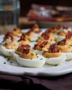 Sweet Potato Deviled Eggs With Crispy Bacon via @feedfeed on https://thefeedfeed.com/new-years-eve-hors-doeuvres/hipfoodiemom1/sweet-potato-deviled-eggs-with-crispy-bacon