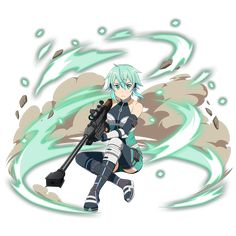 [Leaning on My Fellow Soldier] Sinon Sword Art Online, Online Art, Sinon Ggo, Kirito, Anime Crossover, Game Character, Character Concept, Manga Anime, Welcome To The Game
