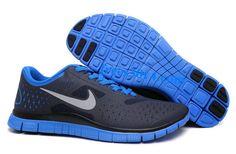 Dark Obsidian Reflect Silver Soar Blue Nike Free 4.0 V2 Men's Running Shoes    #Blue #Womens #Sneakers