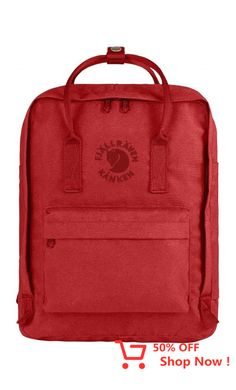 Fjall Raven Kanken No. 2 Backpack In Red Mochila Kanken, Re Kanken, Backpack Travel Bag, Black Backpack, Rucksack Backpack, Travel Bags, Recycling, Unisex, Ducati
