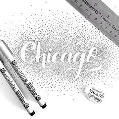 Chicago dots by @fvadesign #Designspiration #creative #lettering - View more on http://ift.tt/1LVCgmr