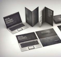 영국의 그래픽 디자인 스튜디오/노트북 모양의 웹디자인 스튜디오/Disigend by_ Brand by sweet/ 직업에 따른 특색있는 명함 디자인