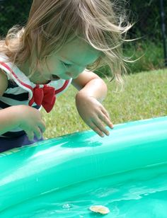 Preschool Science-Gather household items and invite kids to create their own boats. Then test how they work.