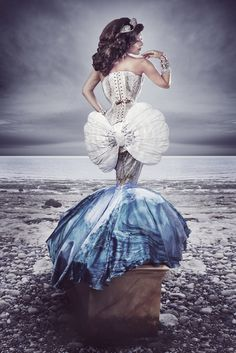 MODEL: Immodesty Blaize | HAIR: Robin Palowski | PHOTOGRAPHY & PHOTOSHOP: Coco Rococo | DRESS AND CAPE: The Whitechapel Workhouse