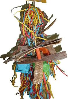 """$8.99-$8.99 Surprise Box Fundangle 14"""" Bird Toy - Every toys has 3 bright colored boxes.  Inside each box is a different natural surprise.  One box has palm strips, another has colorful confetti, and the last box has sea grass strips. http://www.amazon.com/dp/B002IXYMB0/?tag=pin2pet-20"""