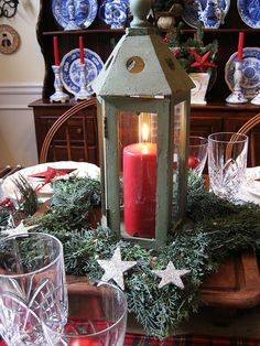 my starry burlap and plaid christmas tablescape, living room ideas, seasonal holiday decor Plaid Christmas, Rustic Christmas, Christmas Holidays, Christmas Crafts, French Christmas, Merry Christmas, French Country Dining Room, French Country Decorating, Country Kitchen