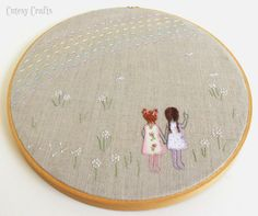 Cutesy Crafts: Embroidery Hoop Patterns Would be a cute Mother's Day gift for a sister.