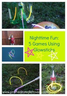 5 Night Games Using Glow Sticks - Fun games using glow sticks that your kids will love!