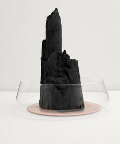 """Charcoal for the Vitra Design Museum"" by Studio Formafantasma Vitra Design Museum, Glass Containers, Decorative Objects, Design Art, Design Ideas, Graphic Design, Sculpting, Ceramics, Creative"
